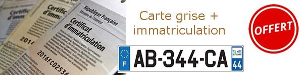 carte grise + immatriculation tiny house offerte